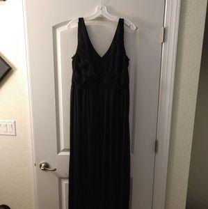 David's bridal bridesmaid black dress
